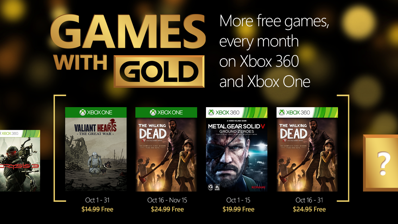 Games With Gold October 2015